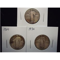 1928,29 & 30 STANDING LIBERTY QUARTERS