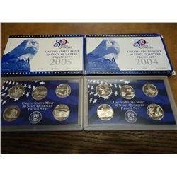 2004 & 05 US 50 STATE QUARTERS PROOF SETS