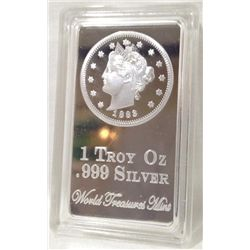 1 Troy Ounce .999 Silver Clad Bar