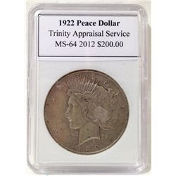 1922 Peace Silver Dollar TAS MS-64