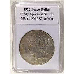 1923 Peace Silver Dollar TAS MS-64
