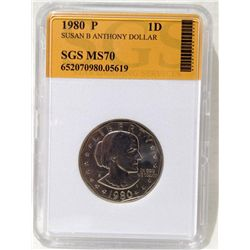 1980 Susan B. Anthony Dollar SGS MS-70