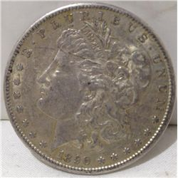 1890-S Morgan Silver Dollar.