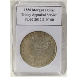 1886 Morgan Silver Dollar TAS PL-62