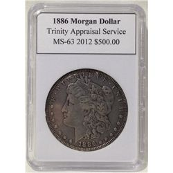 1886 Morgan Silver Dollar TAS MS-63