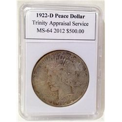 1922-D Peace Silver Dollar TAS MS-64