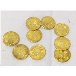 9 Mini St. Gaudens Gold Coins