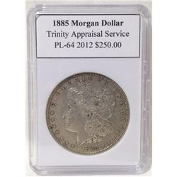 1885 Morgan Silver Dollar TAS PL-64