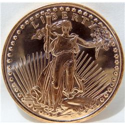 1oz COPPER AMERICAN EAGLE .999 PURE BULLION COIN