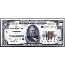 1929 $50 Federal Reserve National Bank Note