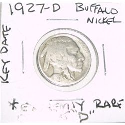 1927-D *OFF-SET D* BUFFALO NICKEL RED BOOK VALUE IS $375.00 *EXTREMELY RARE KEY DATE*!!
