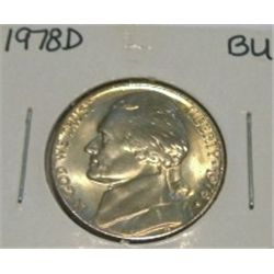 1978-D JEFFERSON NICKEL *RARE BU HIGH GRADE - NICE COIN*!!