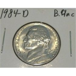 1984-D JEFFERSON NICKEL *RARE BU UNC HIGH GRADE - NICE COIN*!!