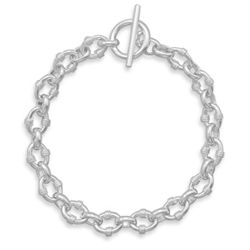 "8"" Oval Link with Rope Bracelet"