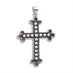 Large Bead Look Cross Pendant