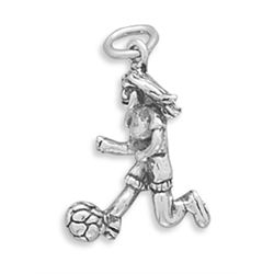 Girl Soccer Player Charm