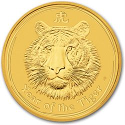 2010 1/2 oz Gold Lunar Year of the Tiger (Series 2)