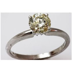 Diamond 1.58 ctw Solitaire 14k White Gold