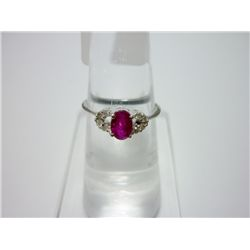 NATURAL14.75 CTW RUBY RING .925 STERLING SILVER