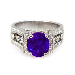Genuine 4.14 ctw Tanzanite (Zoisite)Ring 14k