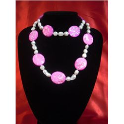 NATURAL 625 CTW KISHI WHITE PEARLS WITH PINK CAPIZ