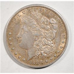 1888-S MORGAN SILVER DOLLAR AU ORIGINAL