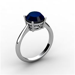 Sapphire 2.25 ctw Ring 14kt White Gold