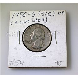 1950-S (S/D) 25Cents VF