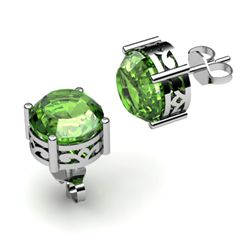 Tourmaline 2.00ctw Earring 14kt White Gold
