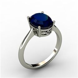 Sapphire 3.15 ctw Ring 14kt White Gold