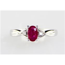 10K 1.6 Ruby Diamond Ring