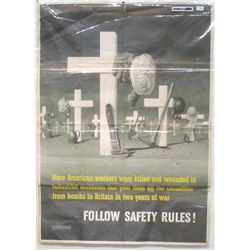 """Safety Rules"" WWII Poster"
