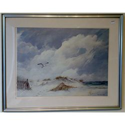 Framed Seashore Print