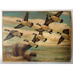 Canadian Geese In Flight After N. C. Wyeth