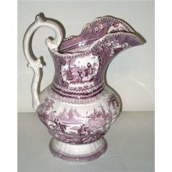 19th C. Ceramic Transfer Ware Pitcher