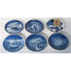 Set Of 6 Christmas Commemorative Plates