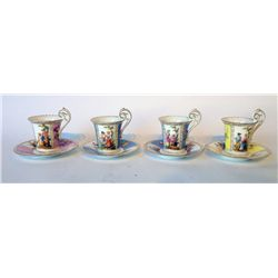 Porcelain Cup And Saucer Set of 4
