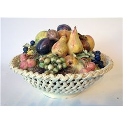 Ceramic Fruit In A Basket