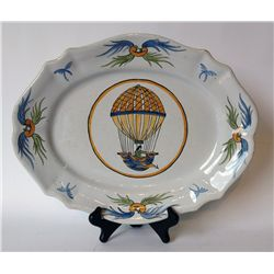 Quimper Platter With Hot Air Balloon