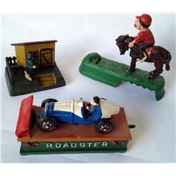 Three Mechanical Toy Banks