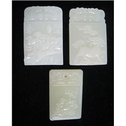 Three Rectangular Chinese Pendants
