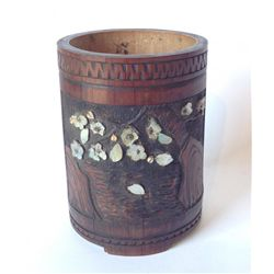 Fine Chinese Bamboo Brush Pot