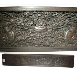 Carved Chinese Rosewood Scroll Weight