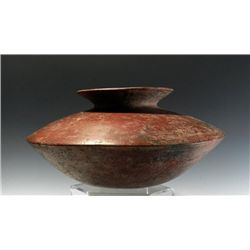 A Colima Redware 'Saucer Form' Olla