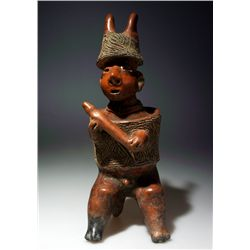 A Pre-Columbian Nayarit Seated Warrior