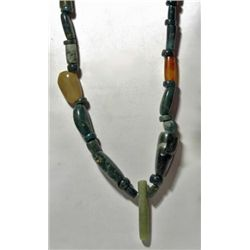 A Pre-Columbian Costa Rican Jade Necklace