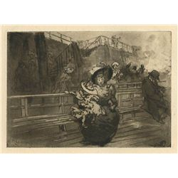 Auguste Louis Lepere Original Etching