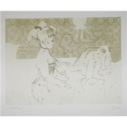 Jack Levine Hand Signed Etching