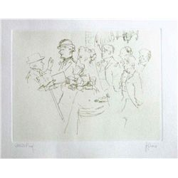 "Levine Hand Signed Etching ""The Wedding"""