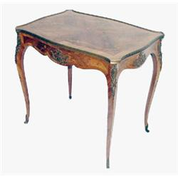 A Louis XV style kingwood and marquetry...